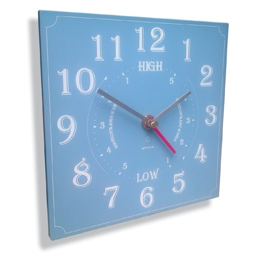 Ashortwalk Recycled Time And Tide Clock (Blue)