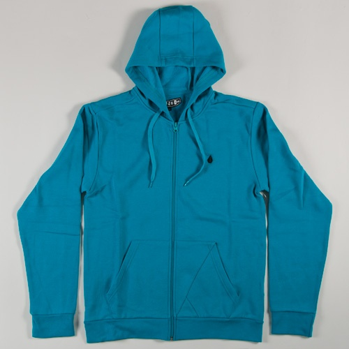 Volcom Icon Slim Zip Hoodie (Bright Turquoise )