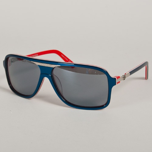 VonZipper Stache (Blue/ White/ Red) Sunglasses