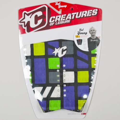 Creatures Nat Young (Purple/Fluro Lime) 2012 Tailpad