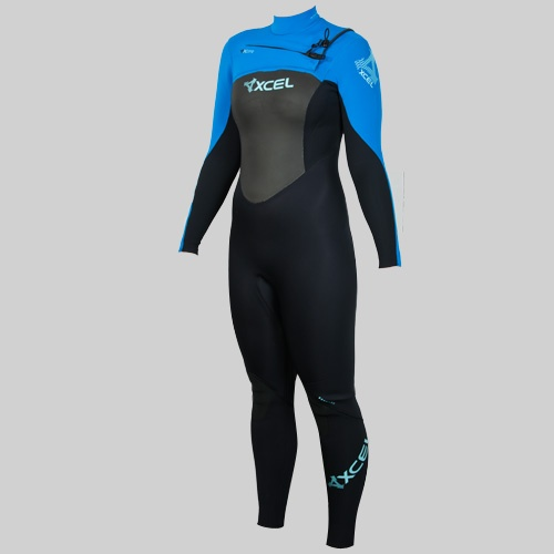 Xcel Womens 3mm Infiniti X-Zip2 (2012 Grey/Sea Blu Wetsuit