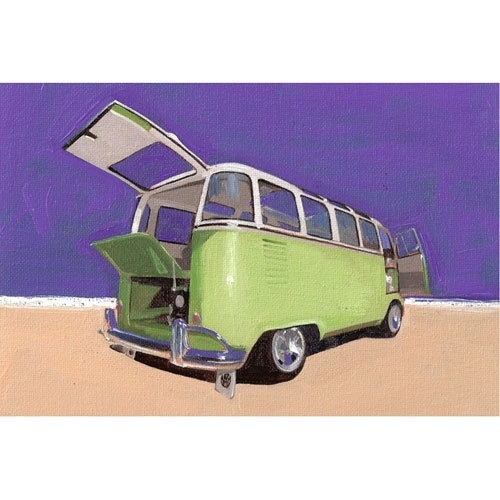VW Green Split Open (Art 07) Print