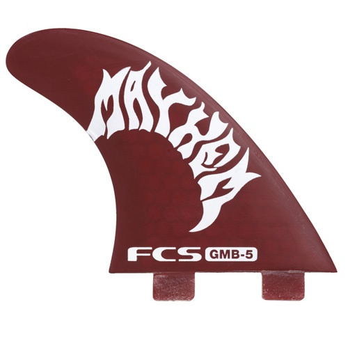 FCS GMB-5 PC Thruster Fin Set (Red)