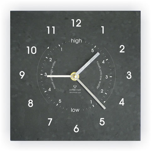 Ashortwalk Recycled Time And Tide Clock (Black)