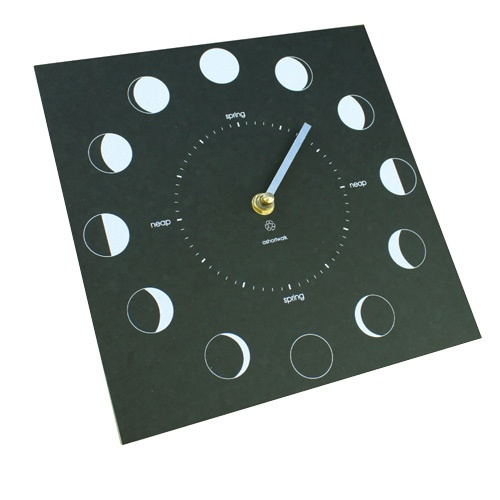 Ashortwalk Recycled Moon Phase Clock (Black)