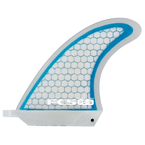 FCS PC-5 Longboard Centre Fin (Blue/Clear)