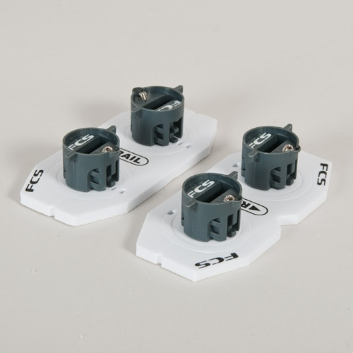 FCS X-2 Fin Plugs Rail Plug (Twin) Set