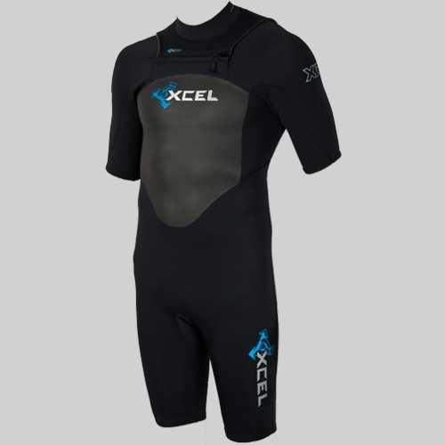 Xcel Mens 2mm X-Flex X-Zip Shortie (2012 Black) Wetsuit