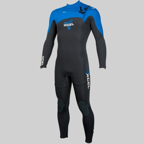 Xcel Kids 3mm Infiniti Comp (2012 Grey/Blue) Wetsuit