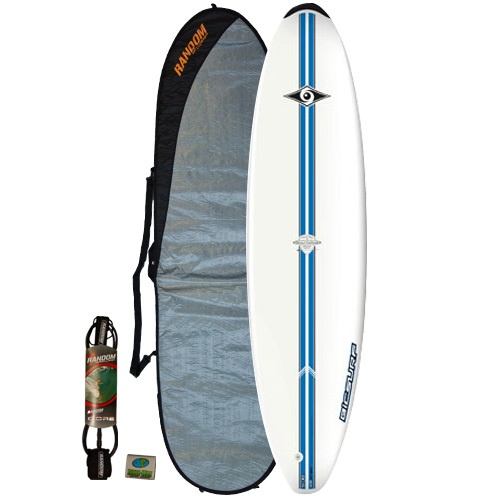 Bic 7'3 Mini-Malibu (Blue) Surfboard