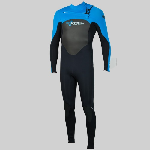 Xcel Mens 3mm X-Flex X-Zip2 (2012 Black/Blue) Wetsuit