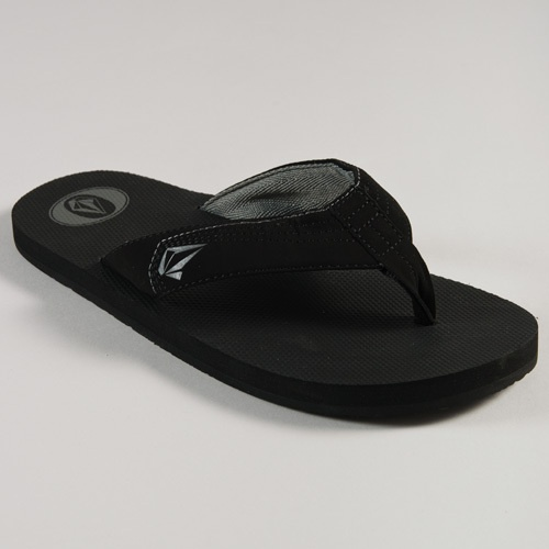 Volcom Vocation Flip Flops  (Black Stripe)