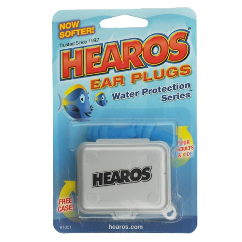 Hearos Aqua Earplugs with case