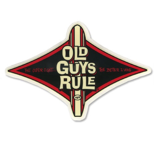 Old Guys Rule Diamond Longboard Sticker